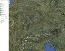 Large trip map